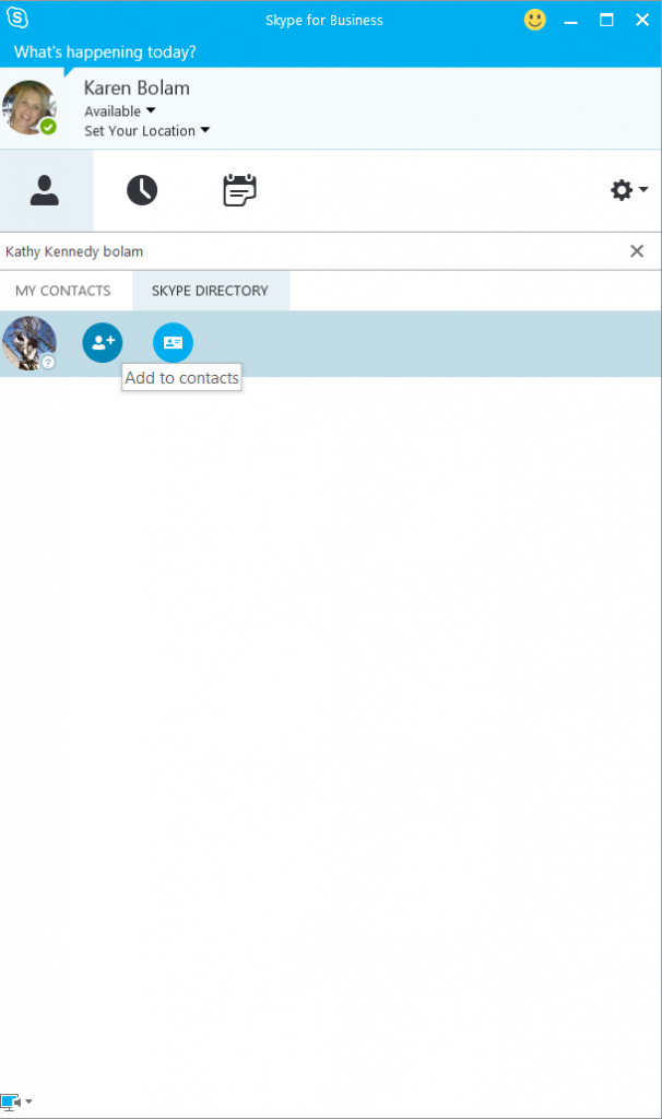 S4B adding Skype contact 4